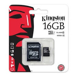 Atmintinė KINGSTON 16GB microSDHC Class 10 UHS-I