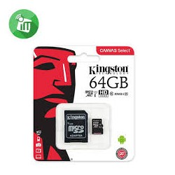Atminties kortelė Kingston 64 GB microSDHC Canvas Select